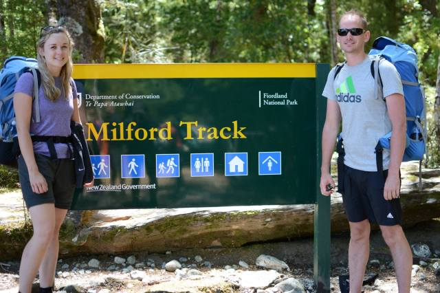 Ben and I at the start of the Milford Track