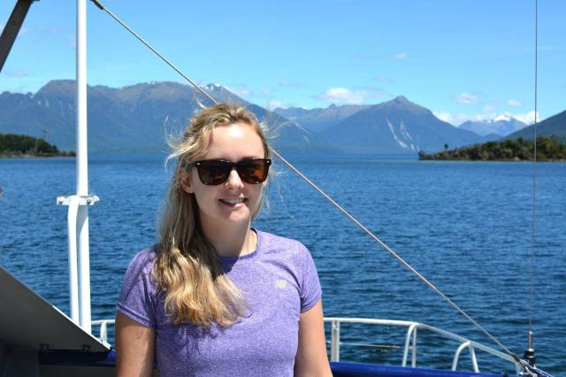 Me on the boat from Te anau downs to the start of the Milford track